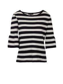 Morgan Striped Textured Cotton Sweater