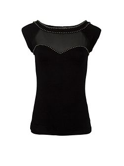 Studded-Detail Top