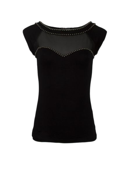 Morgan Studded-Detail Top