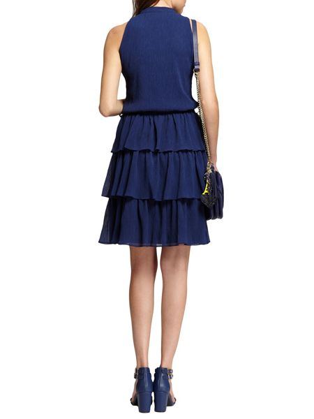 Morgan Crepe-Style Tiered Dress