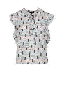 Morgan Geometric-Patterned Blouse