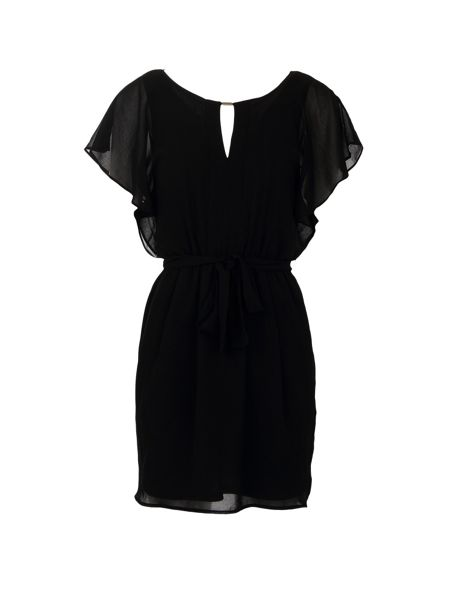 Morgan Layered Waist-Tie Dress