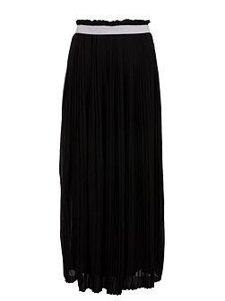 Long Waistband Detail Skirt