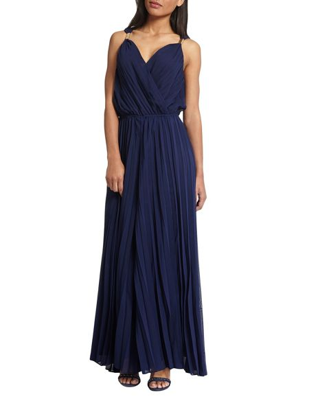 Morgan Wrapover-Front Pleated Dress