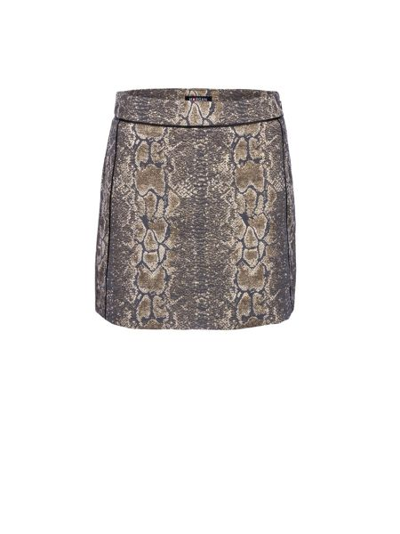 Morgan Snake Printed Jacquard Mini Skirt
