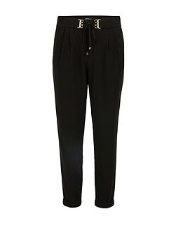 Slim-fit waistband-detail trousers