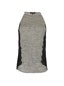 Sleeveless lace-detail top