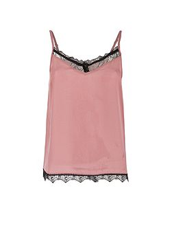 Lace Paneled Tank Top
