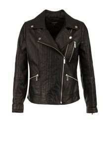 Morgan Sheepskin leather biker-style jacket