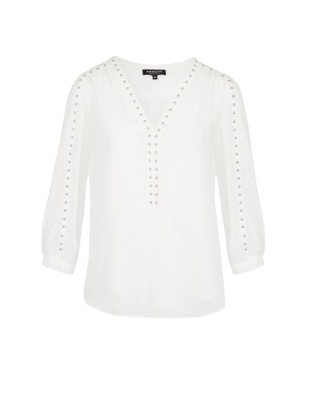 Morgan Sheer top with studded detail