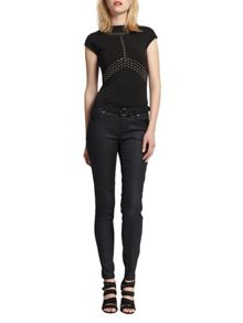 Morgan Studded-detail zipped top