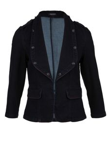Morgan Denim-look fitted jacket
