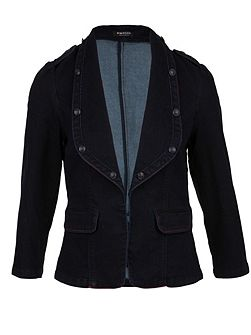 Denim-look fitted jacket