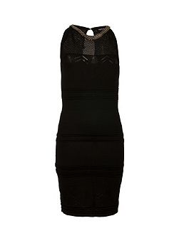 Knitted Openwork Dress With Chain Detail