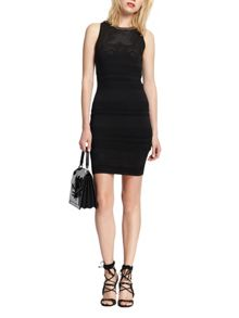 Morgan Knitted Openwork Dress With Chain Detail