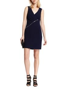 Morgan Zipped-detail fitted dress
