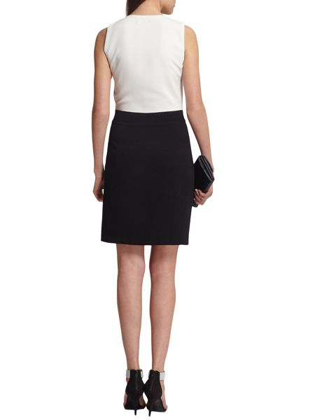 Morgan Pleated-Front Contrasting Dress