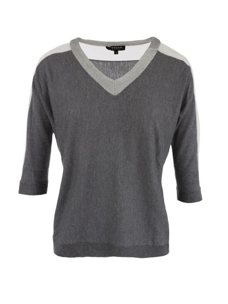 Morgan Contrasting Fine-Knit Sweater