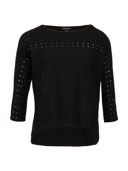 Morgan Studded Detail Fine Knit Sweater