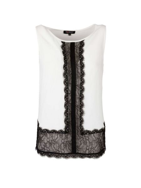 Morgan Lace-Panel Sleeveless Top