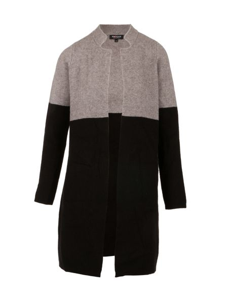 Morgan Two-Tone Wool-Effect Cardigan