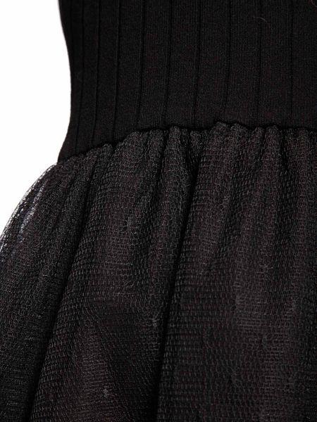 Morgan Knit And Tulle Dress
