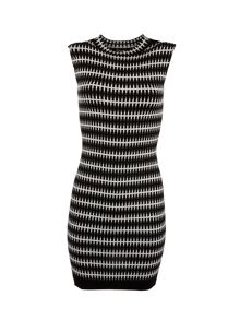 Morgan Patterned sleeveless knitted shift dress