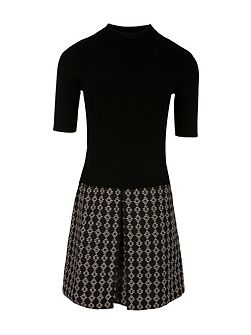 Jacquard Knitted Dress