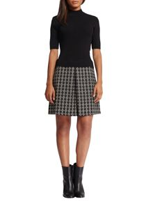 Morgan Jacquard Knitted Dress