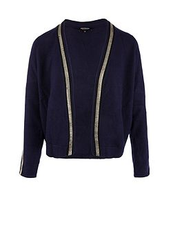 Silver-trimmed cardigan