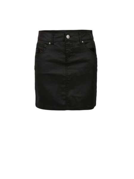 Morgan Coated Denim Mini Skirt