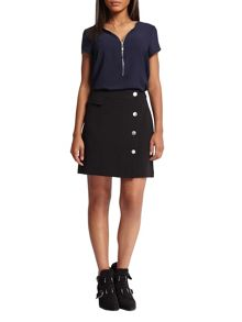 Morgan Buttoned Mini Skirt