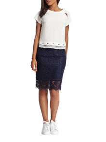 Morgan Lace Pencil Skirt