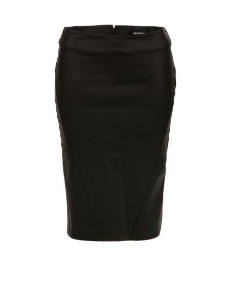 Morgan Shiny-Look Pencil Skirt