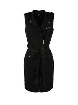 Zipped Biker Dress