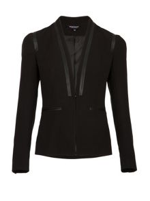 Morgan Piped-Detail Tailored Jacket