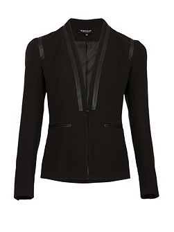 Piped-Detail Tailored Jacket