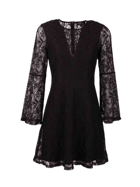 Morgan Patterned lace layered dress