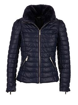 Faux Leather Down Jacket
