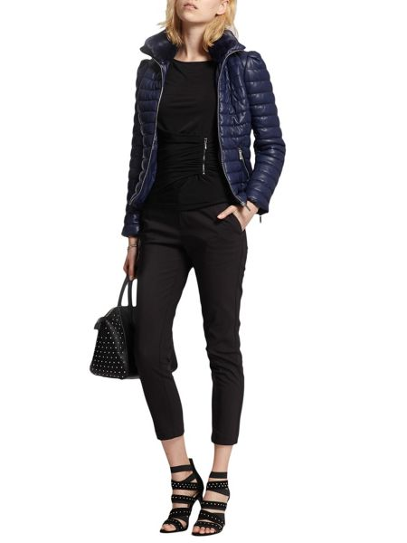 Morgan Faux Leather Down Jacket