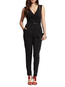 Morgan Lace Paneled Jumpsuit