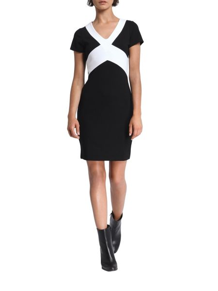 Morgan Jersey Knitted Colorblock Dress