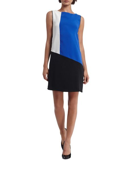 Morgan Crepe Colorblock Dress