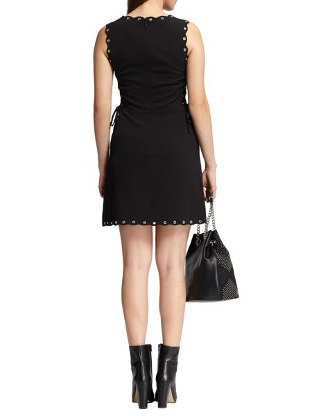 Morgan Lace Up Crepe Dress