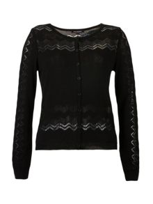 Morgan Openwork Knitted Cardigan