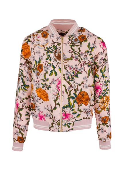 Morgan Zip-Front Floral-Patterned Jacket