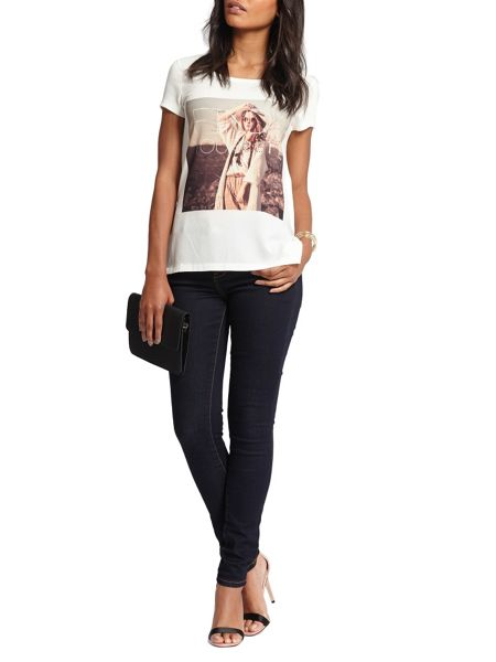 Morgan Photoprint cotton t-shirt