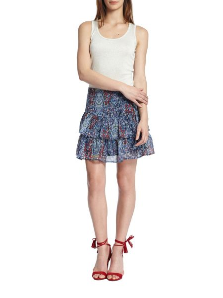 Morgan Two-layer patterned skirt