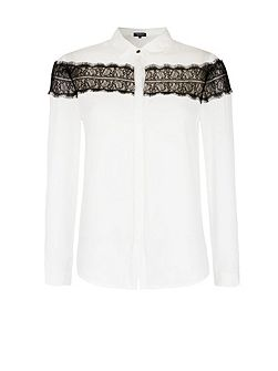 Chiffon And Lace Shirt
