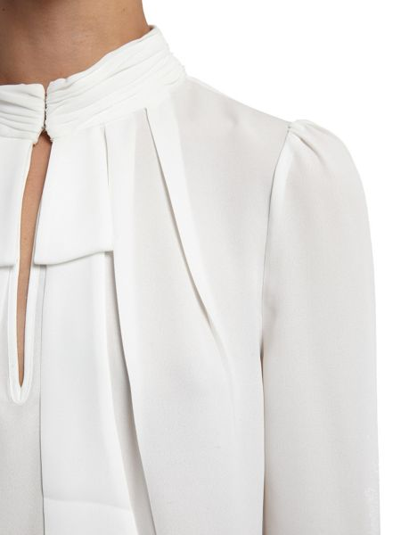Morgan Bow embellished crepe blouse